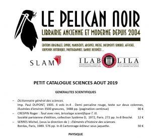 Catalogue scientifique